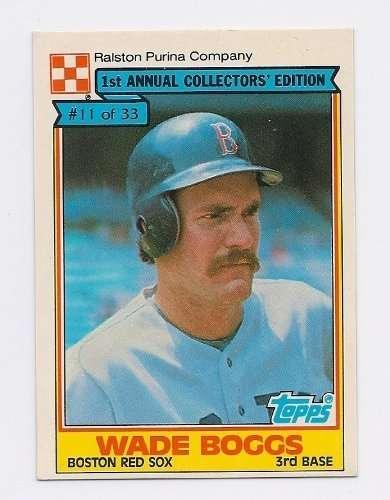 1984 Ralston Purina #11 Wade Boggs Boston Red Sox