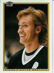 Wayne Gretzky 1990-91 Bowman Card #143