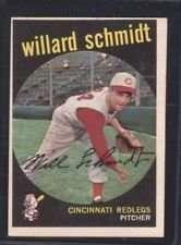 1959 Topps Willard Schmidt Baseball Card #171