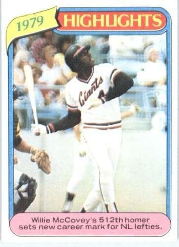 1980 Topps #2 Willie McCovey San Francisco Giants Baseball Card