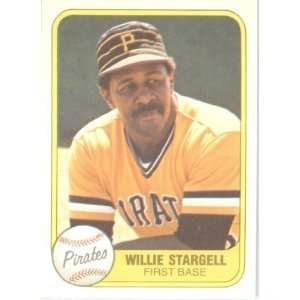 1981 Fleer #363 Willie Stargell Pittsburgh Pirates Baseball Card - In A Protective ScrewDown Display Case!
