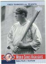 Babe Ruth 2003 Upper Deck New York Yankees 100th Anniversary Card #1 - World Series Highlights
