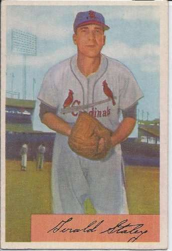 1954 Bowman Card #14 Gerry Staley Excellent Condition