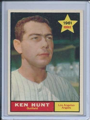 1961 Topps #156 Ken Hunt Rookie Card