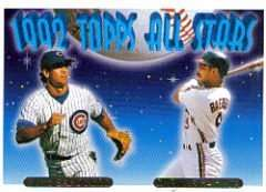 1993 Topps Gold Card #402 Ryne Sandberg / Carlos Baerga All Star