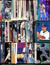 100 Assorted Cleveland Indians Baseball Cards Plus Twelve 9-Pocket Storage Pages (stores up to 216 cards)