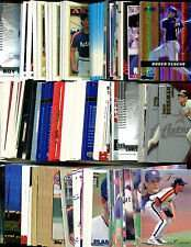 100 Assorted Houston Astros Baseball Cards Plus Twelve 9-Pocket Storage Pages (stores up to 216 cards)