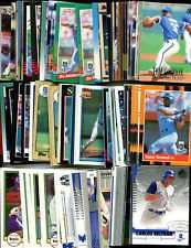 100 Assorted Kansas City Royals Baseball Cards Plus Twelve 9-Pocket Storage Pages (stores up to 216 cards)
