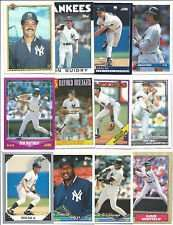 100 Assorted New York Yankees Baseball Cards Plus Twelve 9-Pocket Storage Pages (stores up to 216 cards)