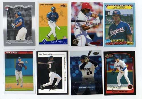 100 Assorted Texas Rangers Baseball Cards