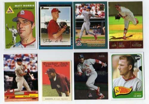 100 Different St. Louis Cardinals Baseball Cards