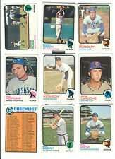 1973 Topps Baseball Card Lot of 15 Cards - Excellent / Very Good