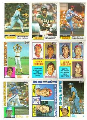25 Different 1984 Topps Baseball Cards