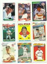 40 Different Baseball Cards of Wade Boggs in Collectors Display Album