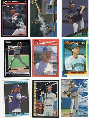 25 Different Randy Johnson Baseball Cards - Mint Condition