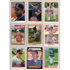 40 Different Cleveland Indians Baseball Cards from 1980-1989 - Shipped in Protective Display Album!