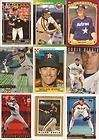 40 Different Houston Astros Baseball Cards from 1980-1989 - Shipped in Protective Display Album!