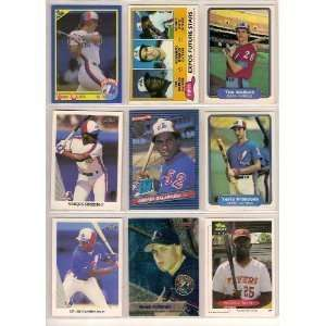 40 Different Montreal Expos Baseball Cards from 1980-1989 - Shipped in Protective Display Album!