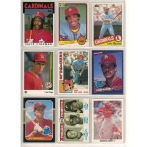 40 Different St. Louis Cardinals Baseball Cards from 1980-1989 - Shipped in Protective Display Album!