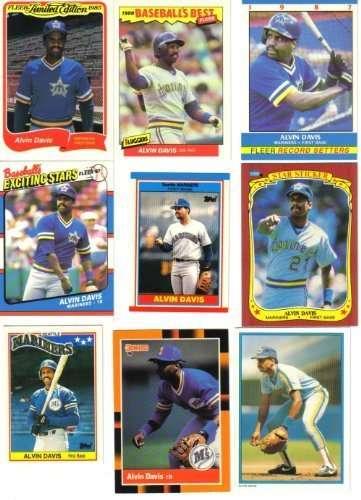 Alvin Davis Seattle Mariners Collectors Baseball Card Lot