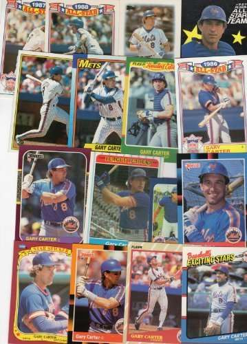 Gary Carter New York Mets Collectors Baseball Card Lot