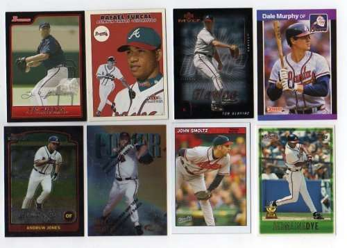 Lot of 100 Different Atlanta Braves Baseball Cards