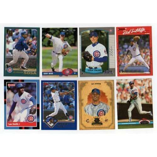 Lot of 100 Different Chicago Cubs Baseball Cards