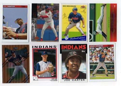 Lot of 100 Different Cleveland Indians Baseball Cards