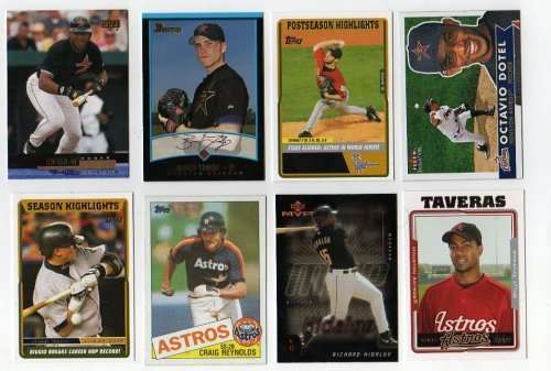 Lot of 100 Different Houston Astros Baseball Cards