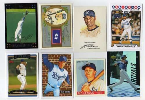 Lot of 100 Different Kansas City Royals Baseball Cards