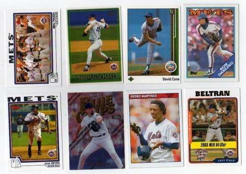 Lot of 100 Different New York Mets Baseball Cards