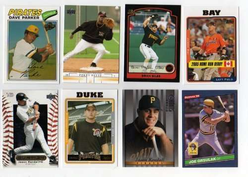 Lot of 100 Different Pittsburgh Pirates Baseball Cards
