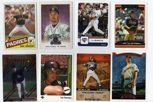 Lot of 100 Different San Diego Padres Baseball Cards
