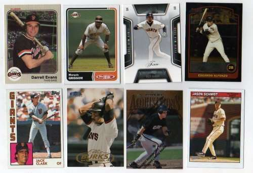 Lot of 100 Different San Francisco Giants Baseball Cards