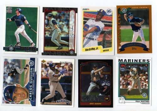 Lot of 100 Different Seattle Mariners Baseball Cards