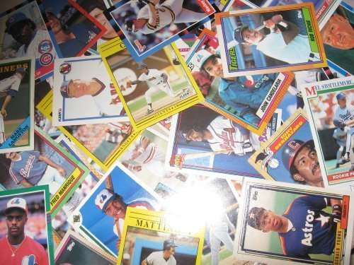 200 Random Baseball Cards, Late 1980s Early 1990s