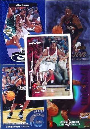 10 Different Allen Iverson Cards in a Protective Starter Album!!