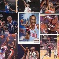20 Assorted Clyde Drexler Basketball Cards - In New Collector's Display Album