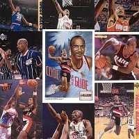 10 Different Clyde Drexler Basketball Cards - In Display Album
