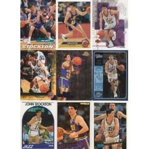 20 Different John Stockton Basketball Cards