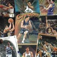 20 Different John Stockton Basketball Cards - In Protective Display Album