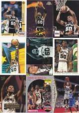 25 Assorted David Robinson Basketball Cards With Display Album