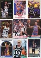 25 Assorted Dennis Rodman Basketball Cards In Collectors Display Album