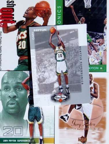 Gary Payton 20 Card Set with 2-Piece Acrylic Case