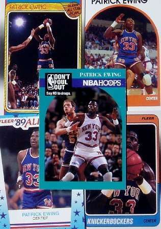 Patrick Ewing 20-card set with 2-piece acrylic case