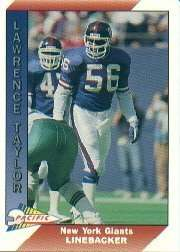 10 Different Lawrence Taylor New York Giants Football Cards In Display Album