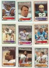 25 Assorted 1983 Topps Football Cards