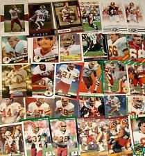 25 Assorted Washington Redskins Football Cards From 1980's and 90's