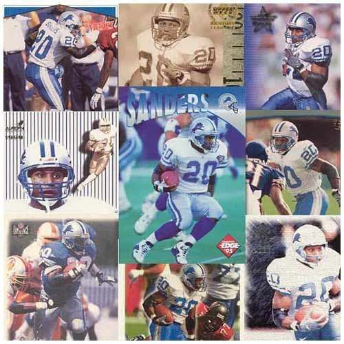 Barry Sanders 20 Card Set In Protective Display Album