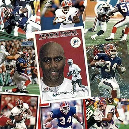 Buffalo Bills Thurman Thomas 20 Trading Card Set